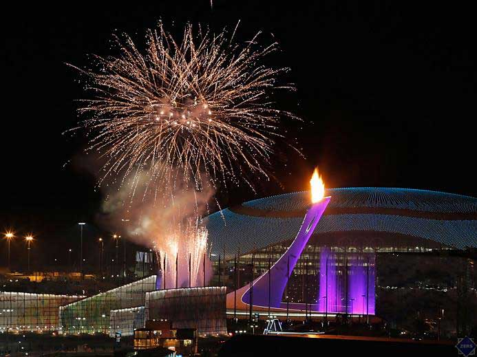 Sochi Olympic cauldron, Lights made using Citizen COB