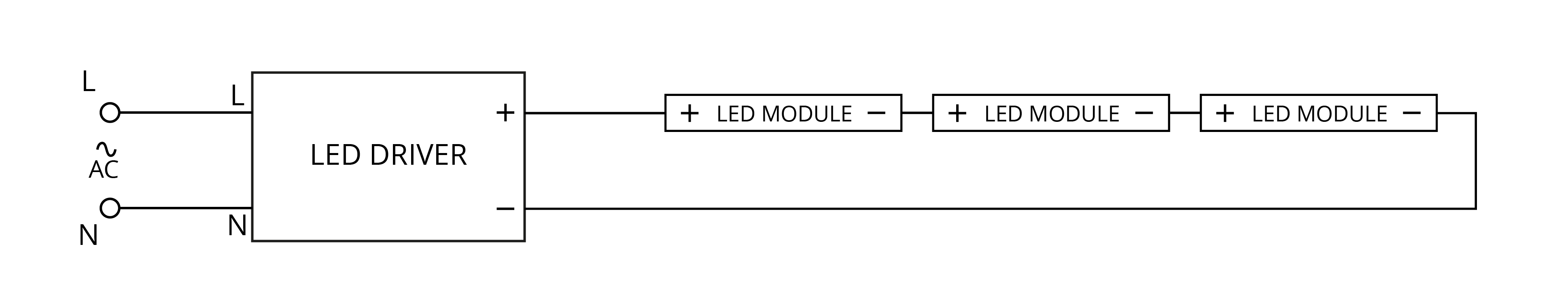 How To Connect Led Modules Into Ac Network Arrant Light Blog Wiring In Parallel Leds Connection Of Through The Driver